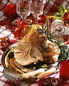 Roast leg of lamb for Christmas