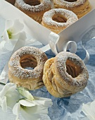 Filled choux pastry wreaths (Paris-Brest)