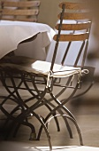 A chair at the table (Auberge la Feniere; Lourmarin)