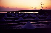 Piles of Sea Salt in Lanzarote, Canary Islands, Spain