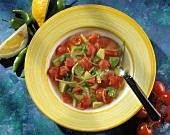 Tomato and avocado soup