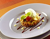 Apple and cinnamon tartlet with Calvados mousse