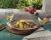 Spaghetti aglio, olio, peperoncino (Scharfes Nudelgericht)