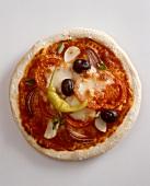 Pizza pomodoro e cipolla (Tomato and onion pizza)