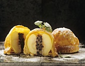 Apples with marzipan and cinnamon stuffing in puff pastry