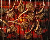 Lamb chops on the grill