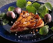A piece of plum tart