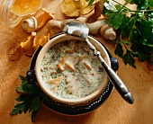 Thuringian forest mushroom soup