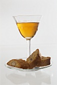Cantucci e Vin Santo (Almond biscuits with dessert wine, Italy)