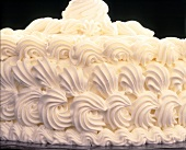 A cream gateau (close-up)