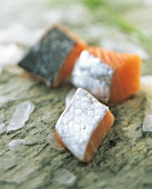 Chunks of Fresh Salmon