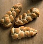 Three bread plaits