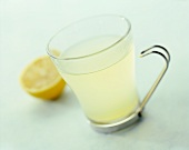Hot Lemon Juice in Glass Mug