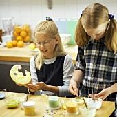 Girls Baking Cookies