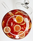 Sangria in a punch bowl