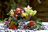 Glass Bowl Full of Fruit