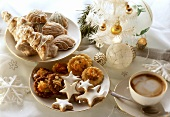 Christmas biscuits on two plates