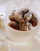 Chocolate cookies in a dish