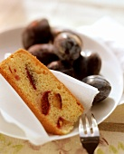 A piece of plum cake