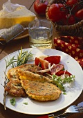 Turkey escalope with herb and parmesan panade