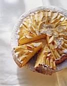 Apple cake with carrots and almonds