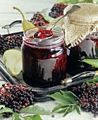 Elderberry jam with pears
