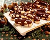 Sponge fingers filled with sweet chestnut cream