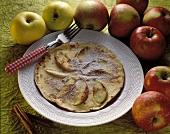 Apfelpfannkuchen mit Zimtpuderzucker
