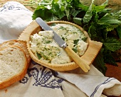 Cream cheese with nettles