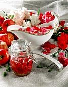 Carnation preserve and carnation sauce
