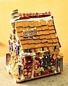 Gingerbread house with sugar sticks