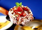Strawberry tiramisu with soft cheese