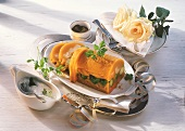 Vegetables in aspic with horseradish sauce