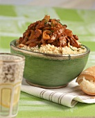Finely chopped beef with couscous