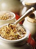 Grain mustard in a pot
