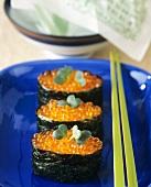 Kakomi sushi with caviare