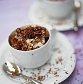 Rice pudding with grated chocolate