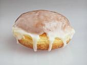 An iced doughnut