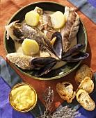 Fish soup with aioli (garlic mayonnaise)