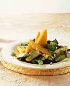 Polenta con ragù di zucchini (Polenta with courgette ragout)