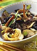 Asian mushroom casserole