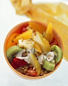 Power muesli with fruit and yoghurt