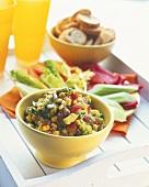 Sweetcorn and avocado salad