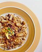 Risotto con funghi e radicchio (Mushroom risotto with radicchio)