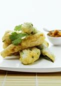 Courgette in tempura batter