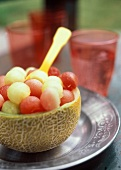 Cantaloupe Bowl of Melon Balls