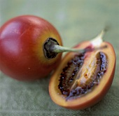 Halved Tamarillo
