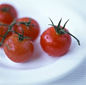 Washed Tomatoes on a Plate
