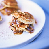 Pancakes with cinnamon filling