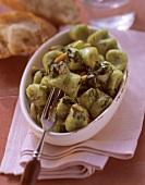 Gnocchi verdi (Ricotta & spinach gnocchi with pine nuts)